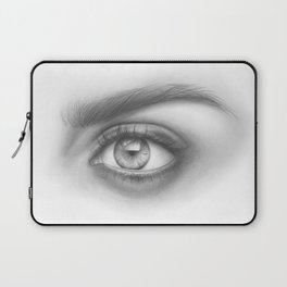 Eye Art | Sexy Girl | Beauty | Model | Woman Face | Graphite Drawing| Pencil Black and White Art Laptop Sleeve