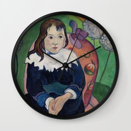 Finest French art by Paul Gauguin. Wall Clock