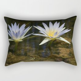 Nymphaea caerulea Rectangular Pillow