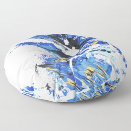 Chase the Blue Floor Pillow