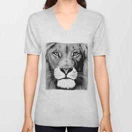 Lion face Unisex V-Neck