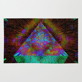 Green Pyramid Landing Rug