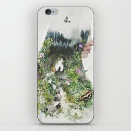 Cat in the Garden of Your Mind iPhone Skin
