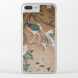 Antique French Chinoiserie in Tan & White Clear iPhone Case