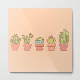 Plant Pots Metal Print