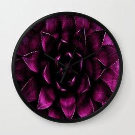 Deep Magenta Succulent Wall Clock