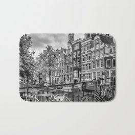 AMSTERDAM Flower Canal black & white Bath Mat