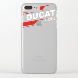 Corse Racing Gp Clear iPhone Case