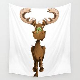 Moose Named Moe Wall Tapestry