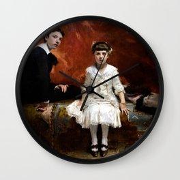 John Singer Sargent - Portrait of Édouard and Marie-Louise Pailleron Wall Clock