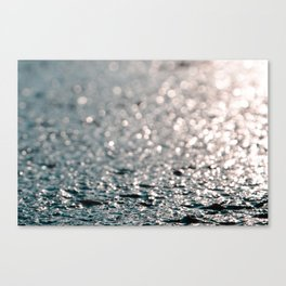 Shiny water Canvas Print