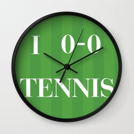 I heart Tennis Wall Clock