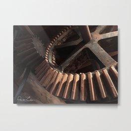 Grist Mill Gears Metal Print