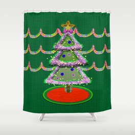 I'm not a Tacky Christmas Sweater Shower Curtain