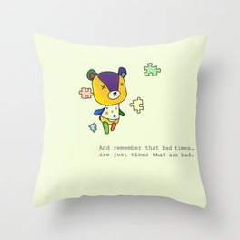 Animal Crossing Stitches Quote Throw Pillow