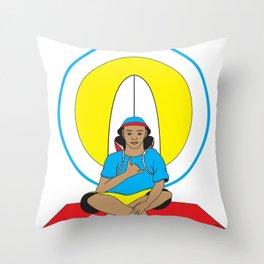 Surf Religion Throw Pillow