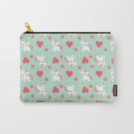 Baby Unicorn with Hearts Carry-All Pouch