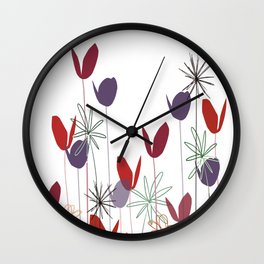 Flowers print, impresion decorativa Wall Clock