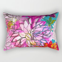 Garden of Dahlias Rectangular Pillow