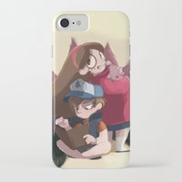 gravity falls iPhone & iPod Cases featuring Gravity Falls by Hikkaphobia