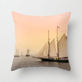 Morning of Glory 2 - Sail Boston 2017 Throw Pillow