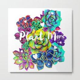 Succulent Rainbow Flower Bouquet Plant Mom Metal Print