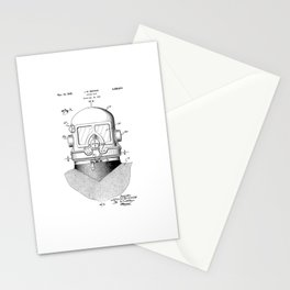 patent art Browne 1945 Diving suit Stationery Cards