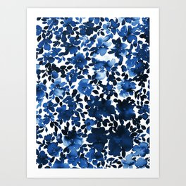 Sophia Floral Blue Art Print