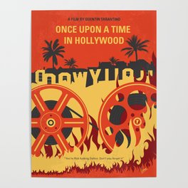No1120 My Once Upon a Time in Hollywood minimal movie poster Poster