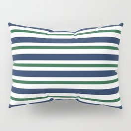 Navy Blue and Green Pillow Sham