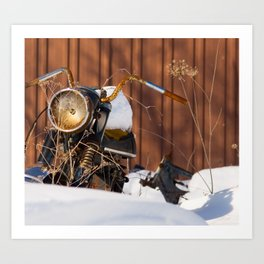 Old Motocyle Art Print