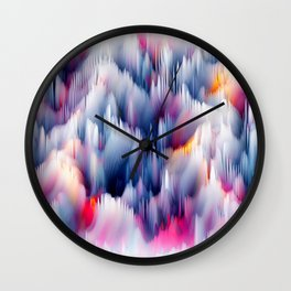 Abstract Colorful Waves Wall Clock