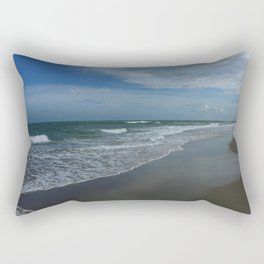 Serene Beach Scene Rectangular Pillow