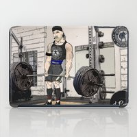 fitness iPad Cases featuring Campbell Fitness Deadlift by Juan Perednik