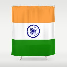 India: Indian Flag Shower Curtain