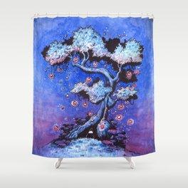 Ninja and the tree of lights Shower Curtain