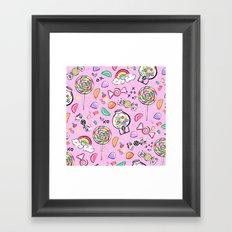 Cute Little Candies Framed Art Print