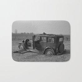 Vintage Automobile After A Flood - Indiana - 1937 Bath Mat