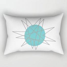 Mid Century Modern, Atomic Age Nuclear Star Burst Rectangular Pillow