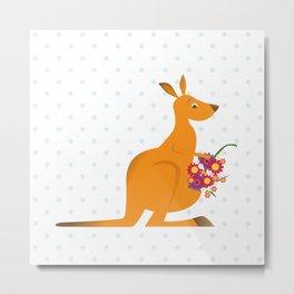 kangaroo misses you Metal Print