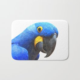 Blue Parrot Portrait Bath Mat