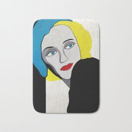 lady with hat Bath Mat