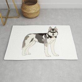 Husky dog Rug