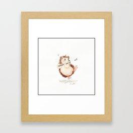 Piccolo Hedgehog Framed Art Print