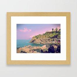 Italian Riviera Dreaming Framed Art Print