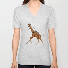 Scuba Giraffe Unisex V-Neck