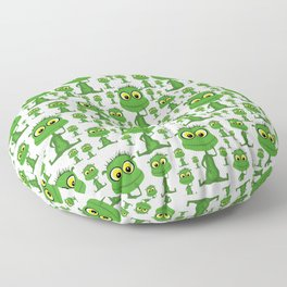 Population: Snood - Aliens - Outerspace - 57 Montgomery Ave Floor Pillow