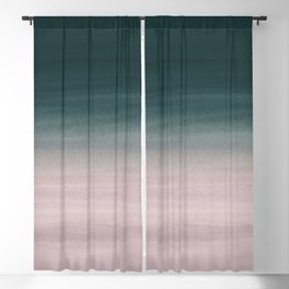 Touching Teal Blush Watercolor Abstract #1 #painting #decor #art #society6 Blackout Curtain