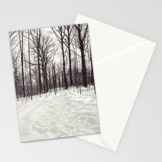 a winter walk Stationery Cards