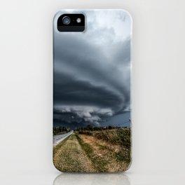 Mothership - Intense Autumn Storm Advances Over Oklahoma Plains iPhone Case